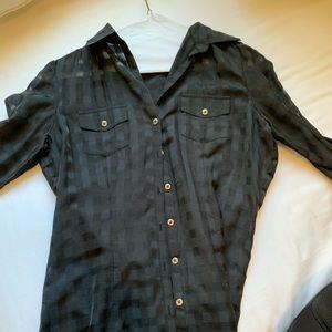 Black checkered blouse